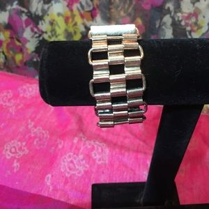 BKE Jewelry - Never metal and faux leather bracelet.