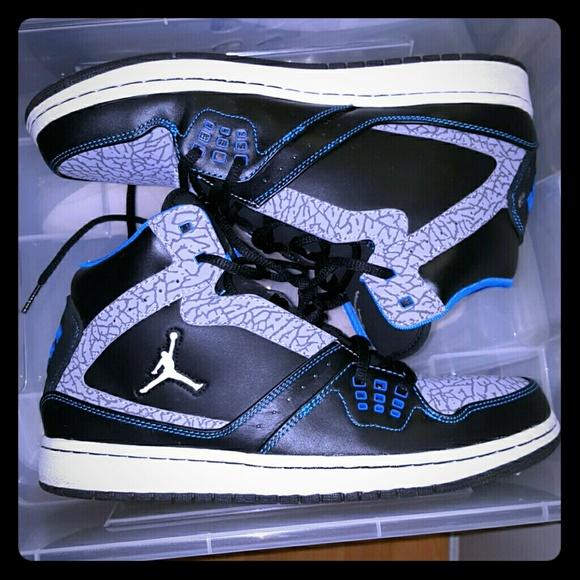e7b67d4f622b44 Jordan Other - Nike Air Jordan 1 Flight Black Blue Grey