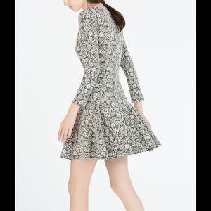 Zara Jacquard Flared Dress, Small.