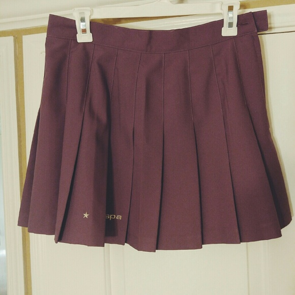 american apparel muted lavender pleated tennis skirt