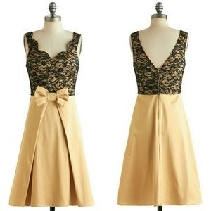 Modcloth Live, Love, Lavender Dress in Gold