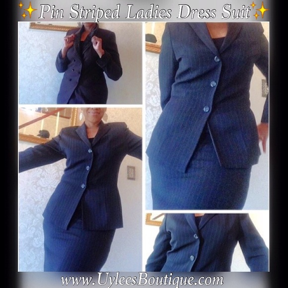 Kasper Dresses Brand 2piece Pin Striped Ladies Dress Suit Poshmark