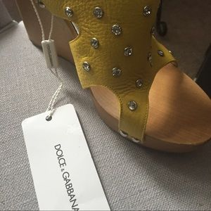 f14551d39107e Dolce   Gabbana Shoes - Dolce   Gabbana yellow Swarovski crystal wedge