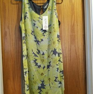 Romy Dresses & Skirts - Yellow and Grey Floral Dress