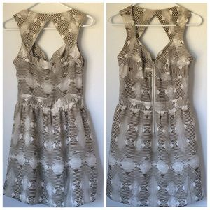 Greylin Dresses & Skirts - Greylin Abstract Print Triangle Cut Out Dress