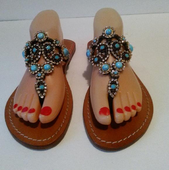 936962fd6523 Mystique Sandals Turquoise Rhinestones. M 57985d299818292b6e013316