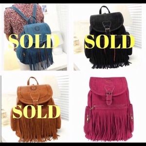Posh Garden Other - LAST ONE🔹Boho Fringed Backpack