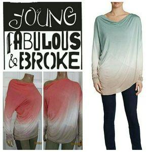 Young Fabulous & Broke Tops - Young Fabulous and Broke Asymmetrical Top