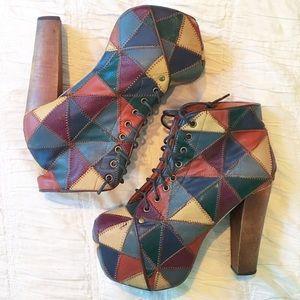 Jeffrey Campbell Shoes - ⭐️ Jeffrey Campbell Patchwork Litas Platform ⭐️