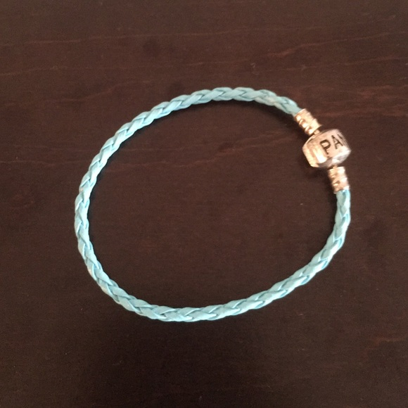7031ecde6c6bc Pandora Single Blue Braided Leather Bracelet