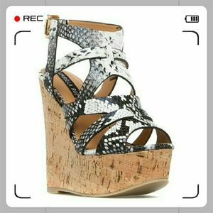 Odette wedge heel sandals