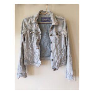 Vintage wash jean jacket