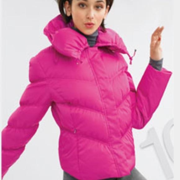 f488b825a Calvin Klein Hot Pink Puffer Coat
