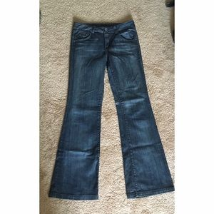 chip and pepper flare jeans