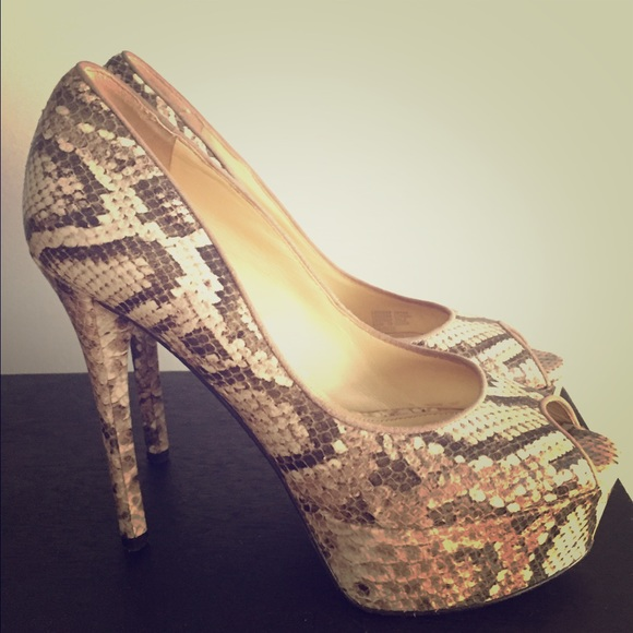 afdef6d551c B by Brian Atwood Snakeskin Pumps