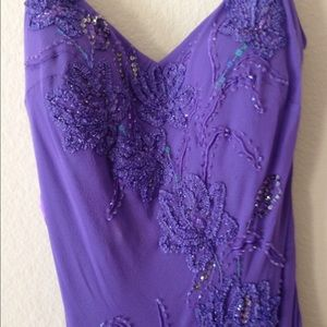 Beautiful beaded Purple Sue Wong Dress
