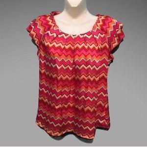 Dress Barn Tops - Dress barn Geometric print top size medium