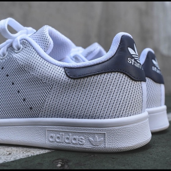Adidas Originals Stan Smith weave in white navy