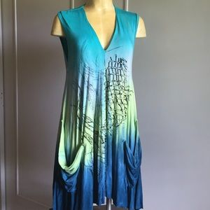 Art of Cloth Tops - ART OF CLOTH MADE IN USA DRESS/COVER UP