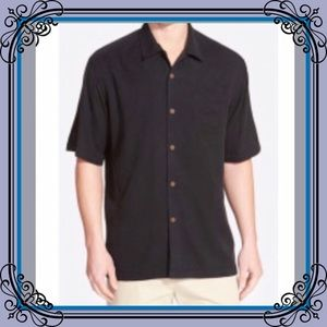 Tommy Bahama Other - Tommy Bahama PRINT Men's black camp shirt