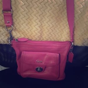 Hot Pink Coach Purse- Gently Used