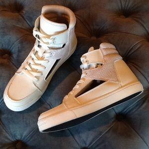 Shoes - White Cutout Shoes