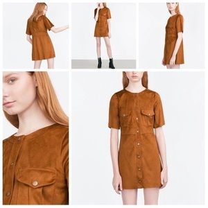 70's Style Retro Mini Dress From ZARA