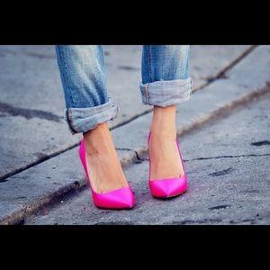 Pour la Victoire Shoes - Fab Pour la Victoire pink satin pumps