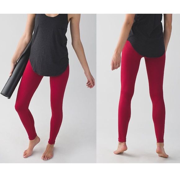 0d9be4e193c5a5 lululemon athletica Pants - Lululemon Cranberry Zone In Compression Tights  Red