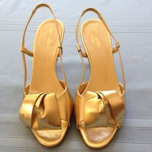 Kate Spade 6.5m gold sandals