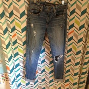 skinny American eagle ripped jeans!