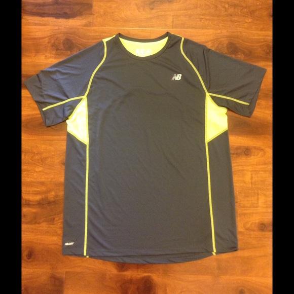 3e38fd0966cb8 New Balance gray and neon dry fit workout shirt. M_5798ea694127d009e60065b3