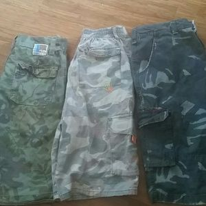 Charlie Rocket Other - 3 pairs camo boys cargo shorts 12 boutique