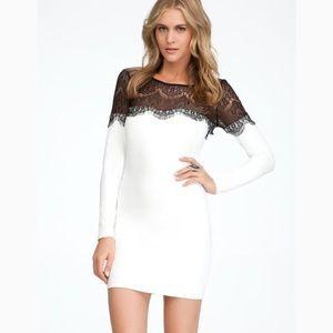 bebe Dresses & Skirts - On SALE! Ivory/Black Cotton/Lycra Lace Dress!