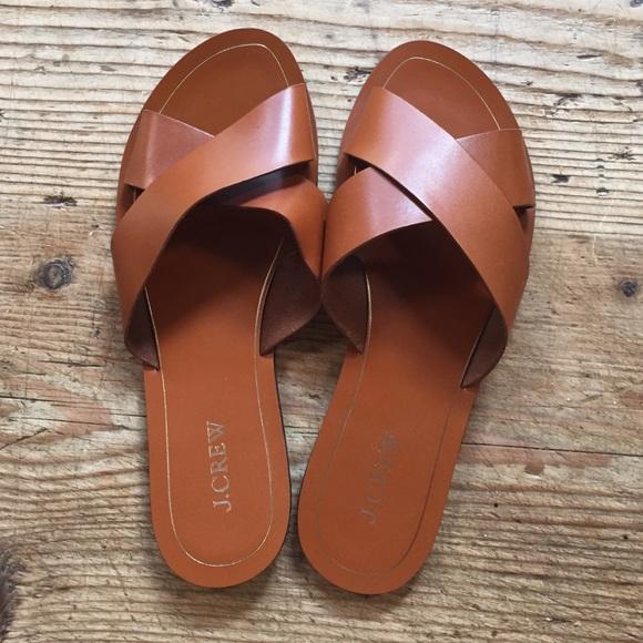 06d400351a04d J. Crew Shoes - J. Crew leather Vachetta criss cross sandals 9