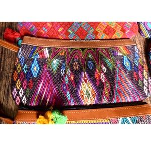 Southern Girl Fashion Handbags - TRIBAL BAG Bohemian Embroidered Clutch Wristlet