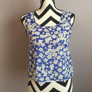 Floral tank with bow back