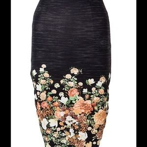 A3 Design Dresses & Skirts - Floral Print Midi BodyCon Skirt.