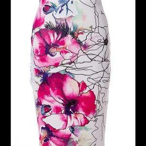 A3 Design  Dresses & Skirts - Watercolor Print BodyCon Skirt.