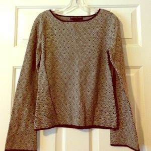 Geoffrey Beene Sweaters - Bell Sleeve Galaxy Woven Top