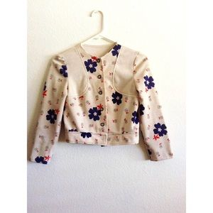Vintage Jackets & Blazers - Vintage Cropped Button Jacket
