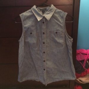 Denim button down Ralph Lauren shirt