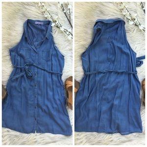 Dresses & Skirts - Denim tencel sleeveless mini dress