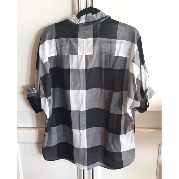 LOFT Tops - Loft gingham plaid shirt