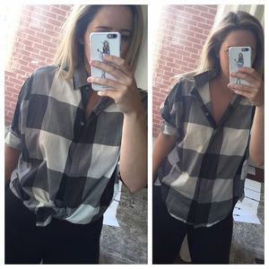 LOFT Tops - Loft gingham plaid shirt