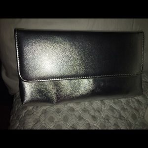 Handbags - Metallic silver clutch