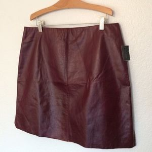 Kenneth Cole Dresses & Skirts - 🆕NWT Kenneth Cole Leather Skirt