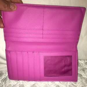 Handbags - Pink and Black checkbook cover