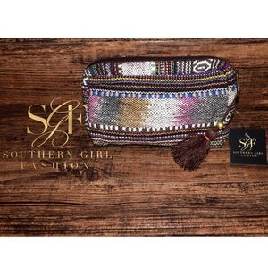 Southern Girl Fashion Handbags - ETHNIC BAG Patchwork Makeup Purse Accessory Clutch
