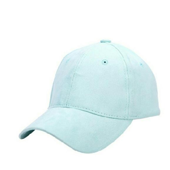 Accessories - Light Blue Suede Baseball Cap 667f06dea32